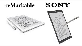 Remarkable vs Sony Digital Paper DPT-CP1