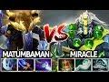 Matumbaman Riki VS Miracle Earth Spirit | Battle in Ranked China 7.21 Dota 2