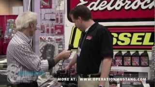 The Doc talks to Edelbrock at AutoWares Show