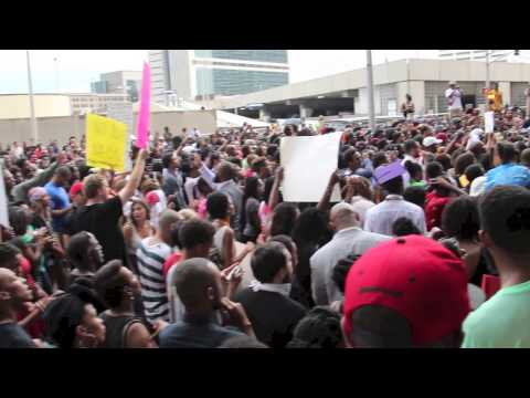Protestors rally in Atlanta for Mike Brown