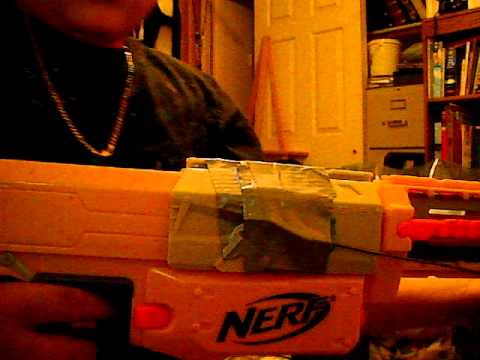My home made nerf shotgun (doesnt shoot multible bullets)