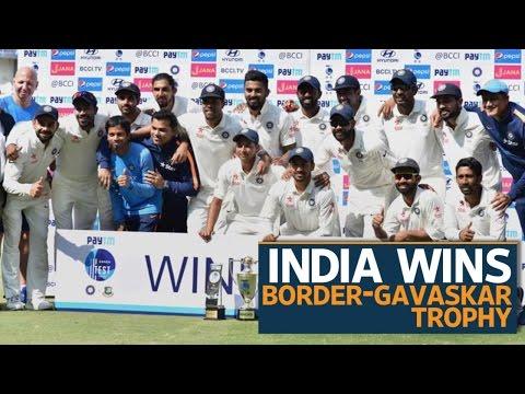 India beat Australia to reclaim Border-Gavaskar trophy
