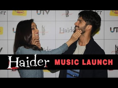 Shahid Kapoor, Vishal Bharadwaj And Shraddha Kapoor Attend The 'Haider' Music Launch At Radio Mirchi