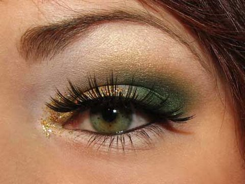 Christmas Green and Gold makeup Video