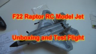 F - 22 Raptor Radio Controlled EPP Model Jet - Unboxed + Test Flight
