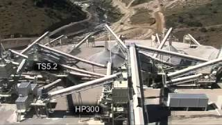 Sabor Dam Plant Crushing and Screening Plant designed by Metso Minerals Iberia