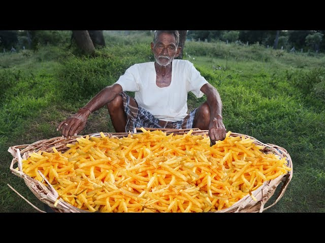 French Fries Recipe  Crispy French Fries Recipe Cooking by our grandpa for Orphan kids
