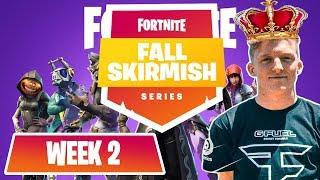 $10M Fortnite Fall Skirmish *ALL GAMES*  (WEEK 1) #FortniteBR FT. NINJA, TFUE, NICK EH 30