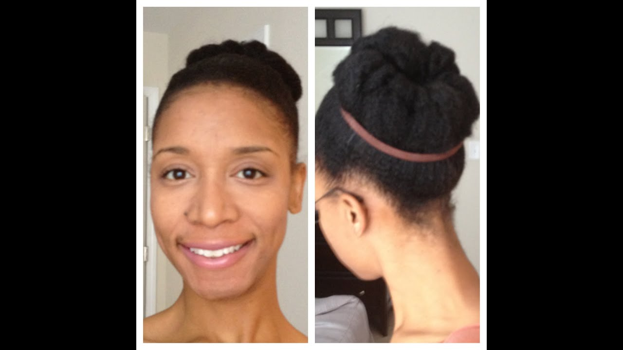 styles to do with natural hair Natural Hair Styles Natural Hair Bun YouTube