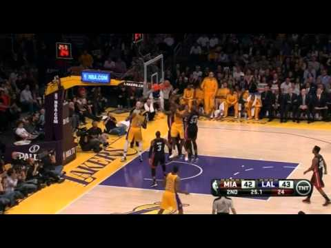 LA Lakers vs Miami Heat (Full HD Highlights) 17/01/2013