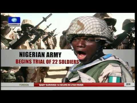 News@10:General Court Martial Of 22 Army Officers Begin In Lagos 09/03/15 Pt.1