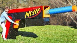 WORLDS BIGGEST NERF GUN!! (TEST FIRE)