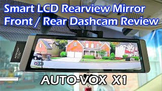 AUTO-VOX X1 Fullscreen LCD Rearview Mirror Dashcam REVIEW