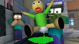 Monster School : BABYSITTER BALDI'S BABY - Minecraft Animation
