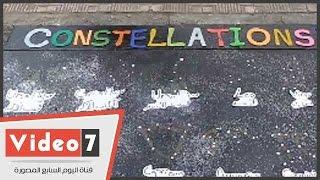 بالفيديو ... طلاب علوم القاهرة ينظمون معرض فنى للفلك بحرم الجامعة