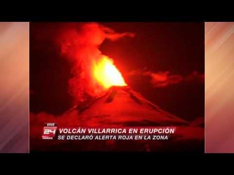 Erupción volcán Villarrica: 3.385 personas han sido evacuadas