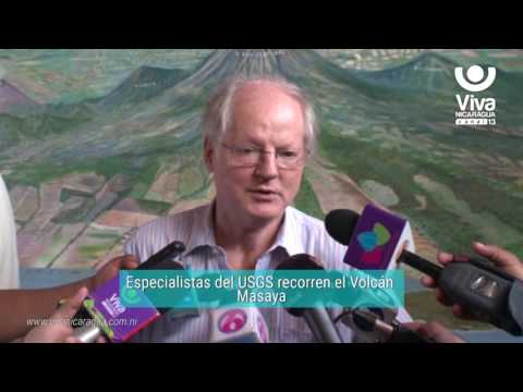 Especialistas del USGS recorren el Volcán Masaya