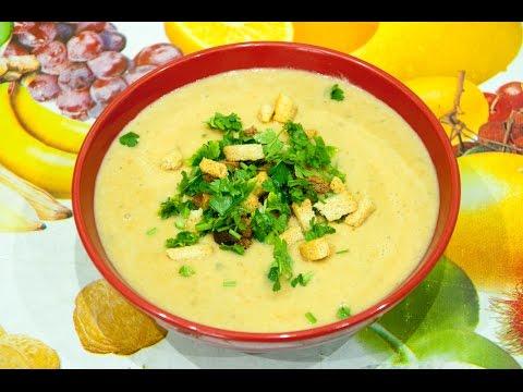 Суп-пюре из брокколи и цветной капусты