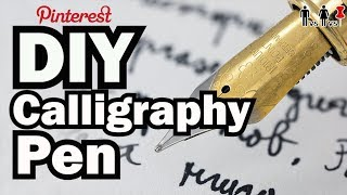 DIY Calligraphy Pen - Man Vs Corinne Vs Pin - Pinterest Test #61