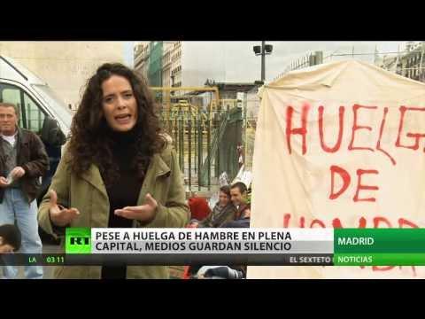 Medios españoles silencian una huelga de hambre en plena capital