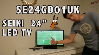 Seiki LED TV SE24GD01UK Unboxing, Test and Review