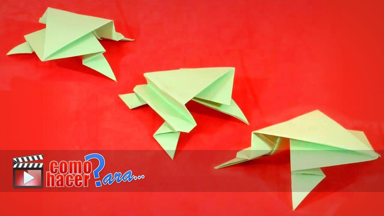Origami c mo hacer una rana de papel paso a paso youtube - Hacer una mampara de ducha ...