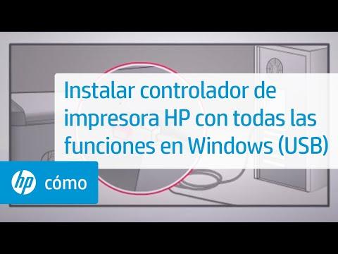 Instalar controlador de impresora HP con todas las funciones en Windows Vista (USB)