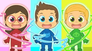 Five Little Babies with PJ Masks   Connor, Amaya and Greg   Nursery Rhymes for kids