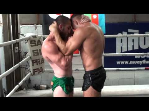 Muay Thai clinching Dzhabar Askerov&Pawel Jedrzejczyk at Sasiprapa Gym Image 1