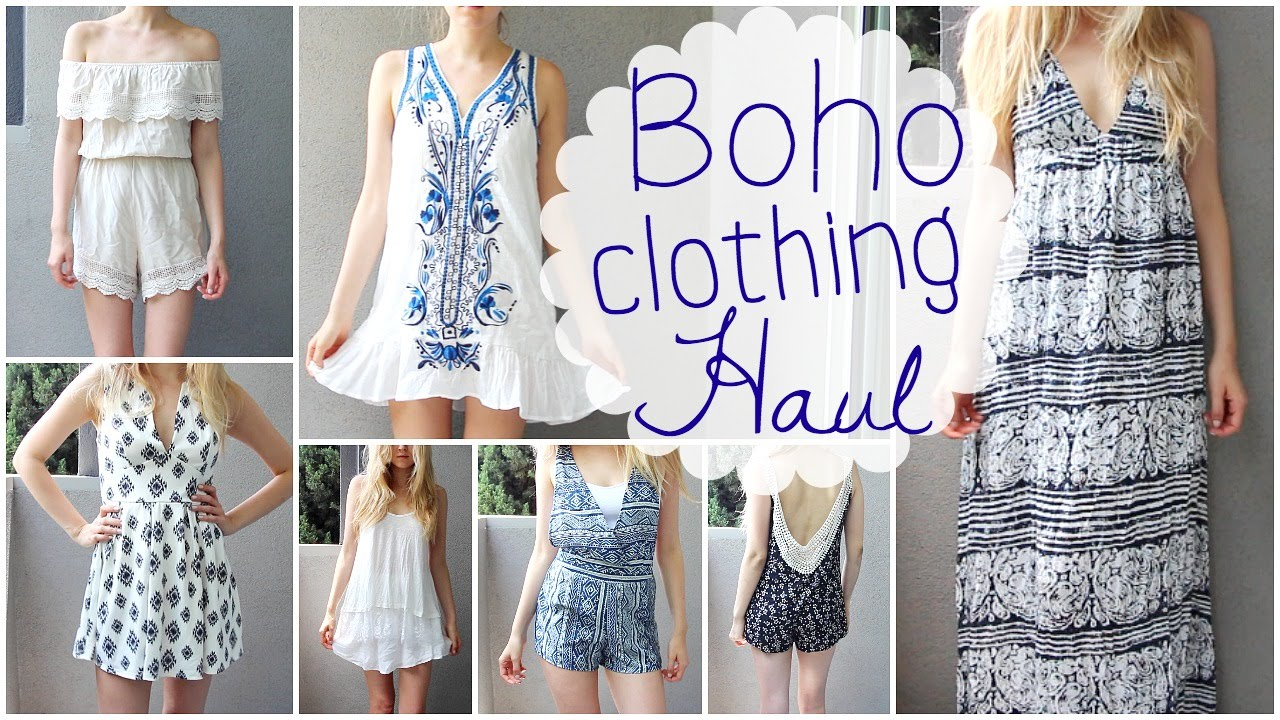 Summer Clothing Haul Boho Tumblr Style Youtube