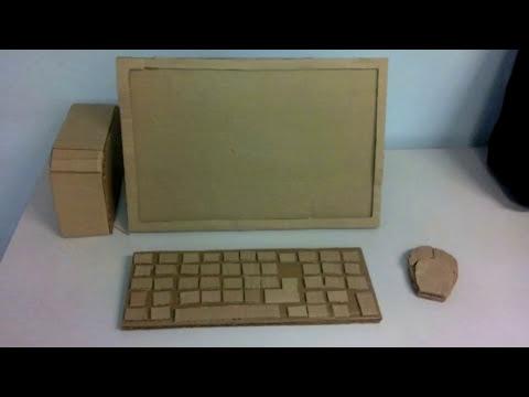 Elaboracion de computadora con material reciclable