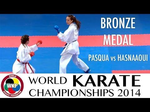 PASQUA vs HASNAAOUI. 2014 World Karate Championships. Kumite -61kg. Bronze Medal