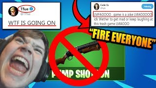 Epic REMOVES Pump Shotgun.. PRO Players EXTREMELY PISSED!