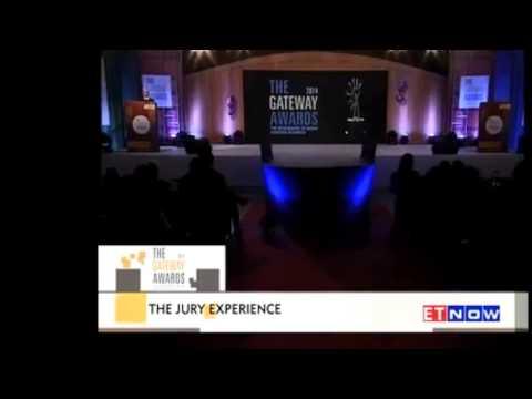 Emcee Deepti Hosting Gateway award telecasted on ET Now