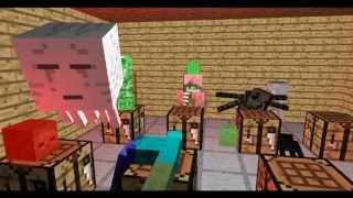 Школа Мобов - Крафтинг  (Майнкрафт Анимация)