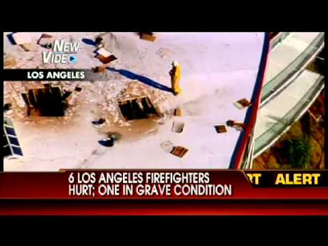 6 Los Angeles Firefighters Hurt, 1 in Grave Condition
