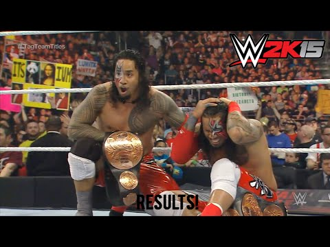 Wwe Royal Rumble 2015 The Usos Vs The Miz & Damien Mizdow Wwe Tag Team Championship Match Result! video