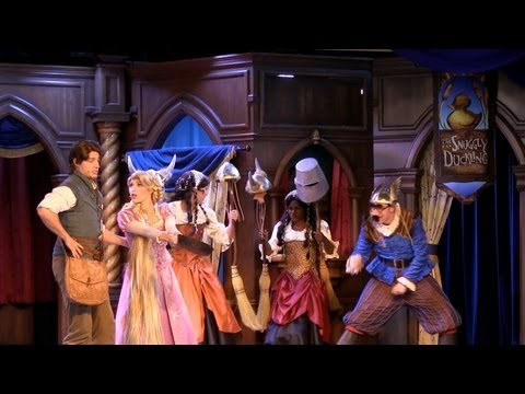 FULL Tangled / Rapunzel show in Fantasy Faire at Disneyland