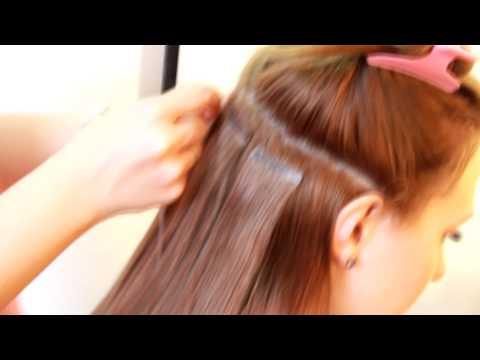 Наращивание волос лентами-видео
