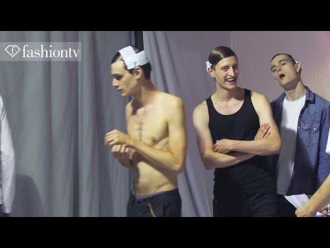 Male Models Yuri Pleskun. Clement Chabernaud at Dries Van Noten Men Spring/Summer 2013   FashionTV