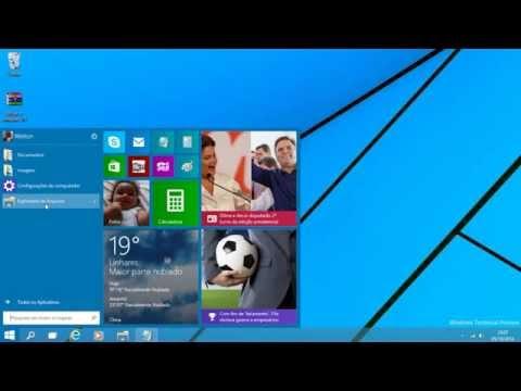 Como ativar o Windows 10 (windows technical preview) HD