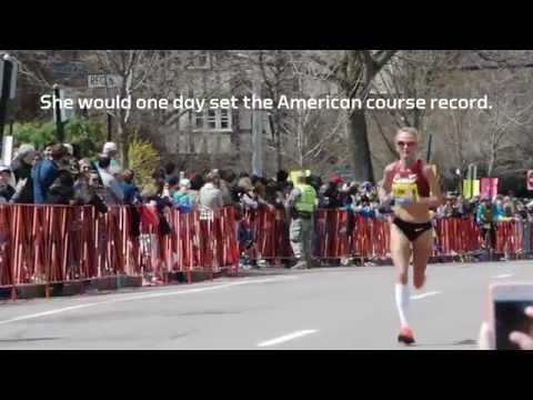 Shalane Flanagan at the Boston Marathon