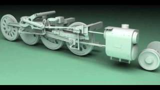 Big boy 4014 Steam engine animation