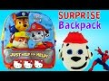 PAW PATROL Play Doh Surprise Backpack - Spiderman Hello Kitty Cars TMNT Shopkins Chocolate Eggs