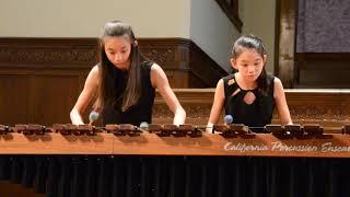 2018 JUNIOR BACH, Irene & Sophie Lin, marimba, PRELUDE & FUGUE:G Major (S884)