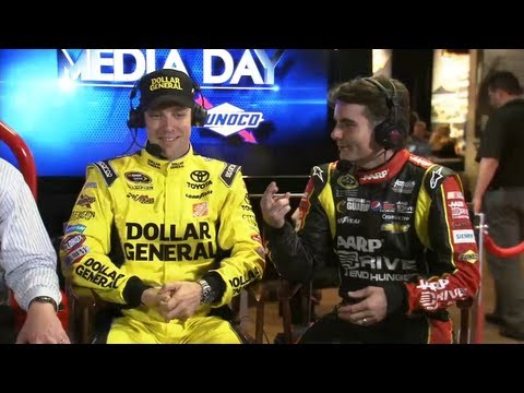 Jeff Gordon and Matt Kenseth at NASCAR Media Day