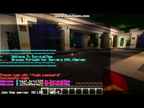 Minecraft 1.5.2 Cracked Server 24/7 [Non-Lag] The Walls,Hungergames,Bowspleef And More !