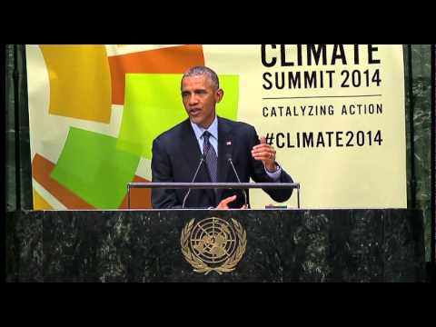 Barack Obama addressed the UN Climate Change Summit