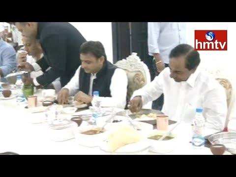 ప్రగతిభవన్లో అఖిలేష్కు విందు...! Akhilesh Yadav Meets Telangana CM KCR | Telugu News | Hmtv