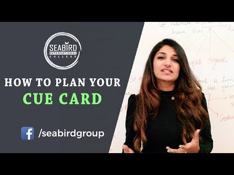 How to plan your Cue - Card   Seabird International